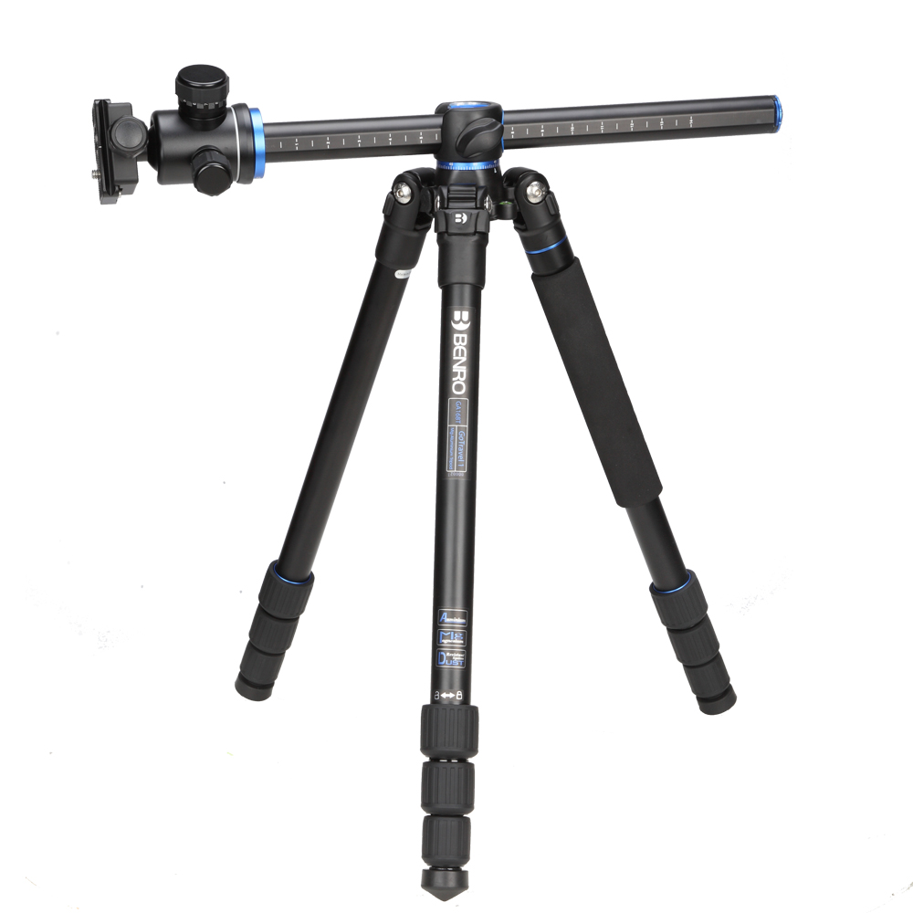 Benro GA168TB1 Portable Tripod Kit Professional Aluminum Alloy Camera Tripod Ball Video Head For Canon Nikon Sony Digital SLR benro a35fbr1 original tripod for slr camera reflexum professional tripod aluminum tripod functional monopod climbing stick