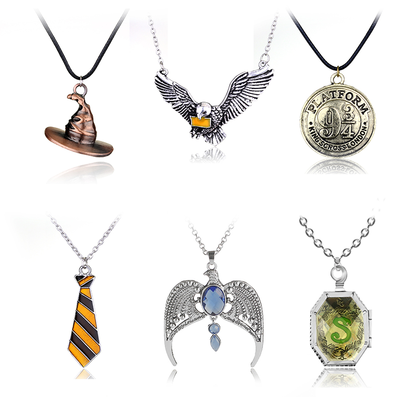 Rj 2018 Movie Magic School Owl Necklace Witch Hat Flying Horcrux Keyring Men
