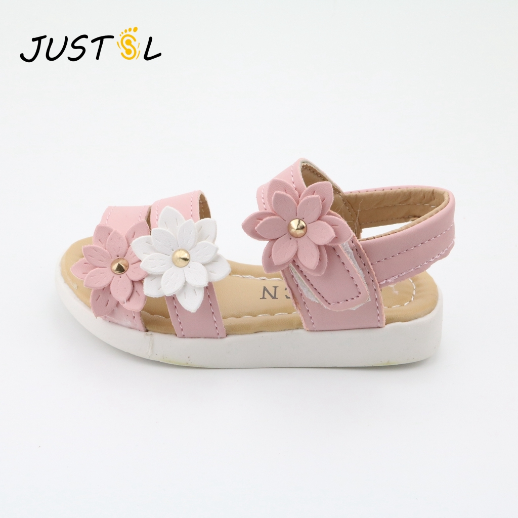 JUSTSL Children's shoes 2017 Summer new children's shoes Lovely flower shoes Fashion girl sandals Magic shoes