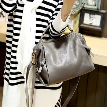 handbag bolsa feminina brand new fashion women tote bag with a pillow bag high quality PU solid shoulder messenger bags