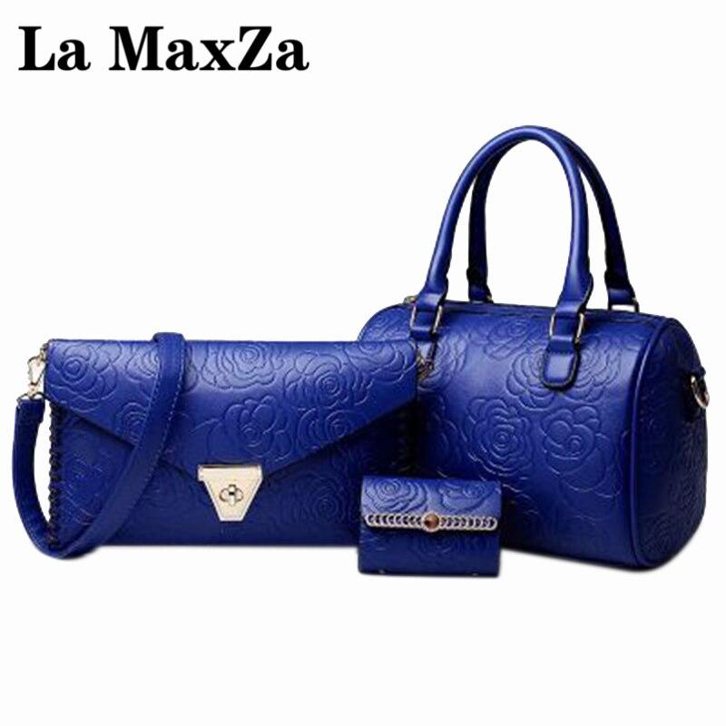 La MaxZa Leather Plaid a Main Shoulder Bags Women Crossbody Bag Ladies Designer High Quality Handbags