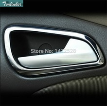 NEW Stainless Steel Interior Trim Doors Hand-clasping Decoration Ring for Chevrolet Chevy Cruze Sedan Hatchback Accessories 17 new for cruze window decorations for chevrolet 18 cruze stainless steel decorative stripe modification