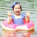 New Arrival Inflatable Swimming Ring Floating Row Pool Kids Swimming Ring Float Two Colours Available