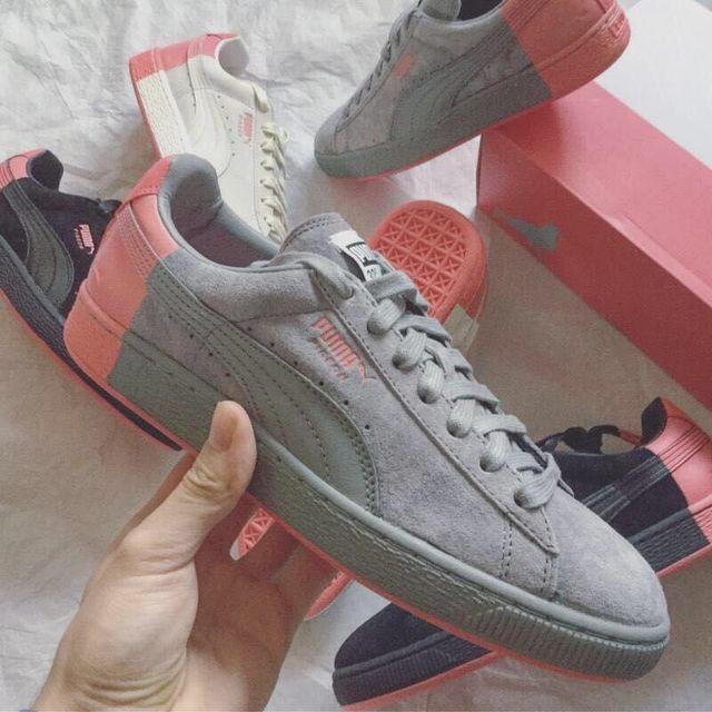sports shoes e4492 50158 US $64.34 |2018 Original Women's Puma Basket Platform Tween JR Training  Shoes Whisper White Pink Badminton Shoes Size EUR 36 39-in Badminton Shoes  ...