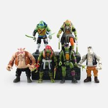 NEW Free shipping 6pcs/LOT Model toys Action & Toy Figures Turtles model Animation furnishing articles