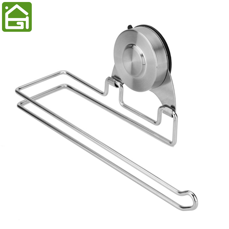 Rustproof Stainless Steel Suction Cup Toilet Roll Paper