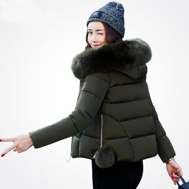 US $34.5 |Ukraine Neue Ankunft Verkauf weibliche jacke Winterjacke Frauen 2017 Mantel Parka Baumwolle gefütterte dicke schneeschuhe Wadded Jacken in