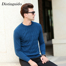 New Arrival Men's Sweater 100% Wool Smart Casual Solid Color Long Sleeves Christmas Sweater Clothing For Man MSW050