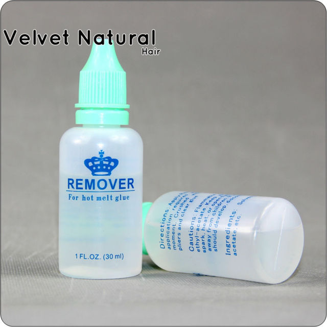 1 Bottle Nail Tip Remover For Hot Glue Hair Extension To Remove On