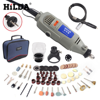 HILDA 220V 150W Electric Rotary Tool Variable Speed Mini Drill Mini Die Grinder With Accessories Multifunctional