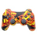Wireless Controller Double Vibration Joystick SIXAXIS Gamepad Joypad For Playstation 3 PS3 (Golden Puzzle )