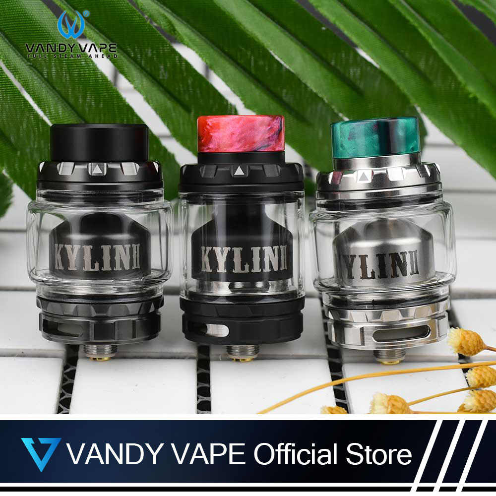 Original Vandyvape Kylin V2 RTA Tank 3ml to 5ml Vaper E Cigarette With Single or Dual coil Airflow Huge Clouds For MOD