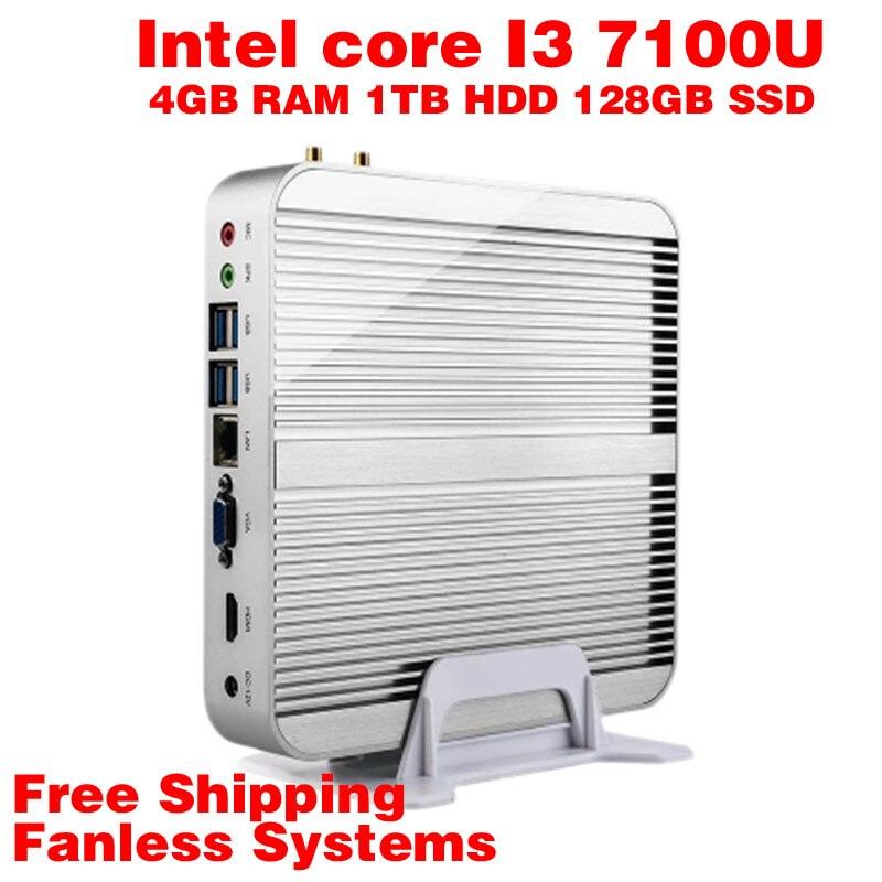 Mini PC Intel 7e Gen Kaby 7100U Lac Windows 10 i3 4 GB RAM 1 TB HDD 128 GB SSD G