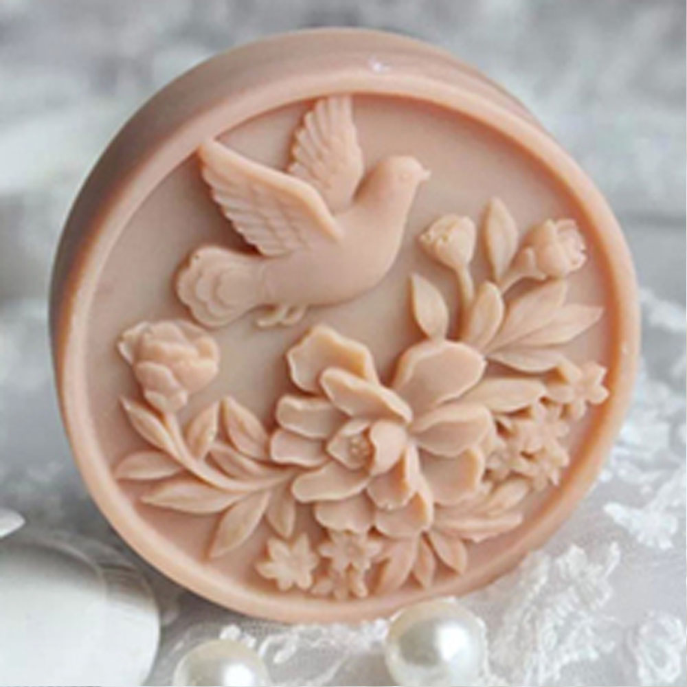 Pegeon Silicone Soap Molds Diy Craft Handmade Candle Resin Soap Making Mould ...