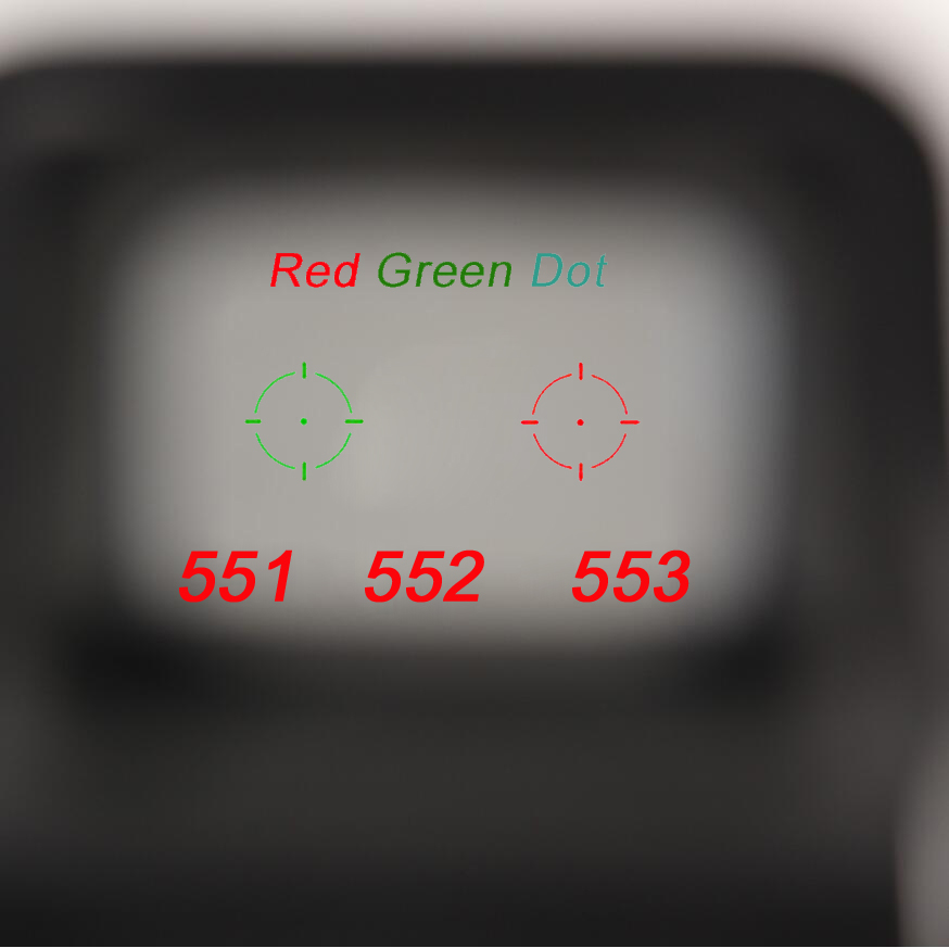 551 552 553 red green dot vista holografica escopo caca red dot reflex vista rifle escopo