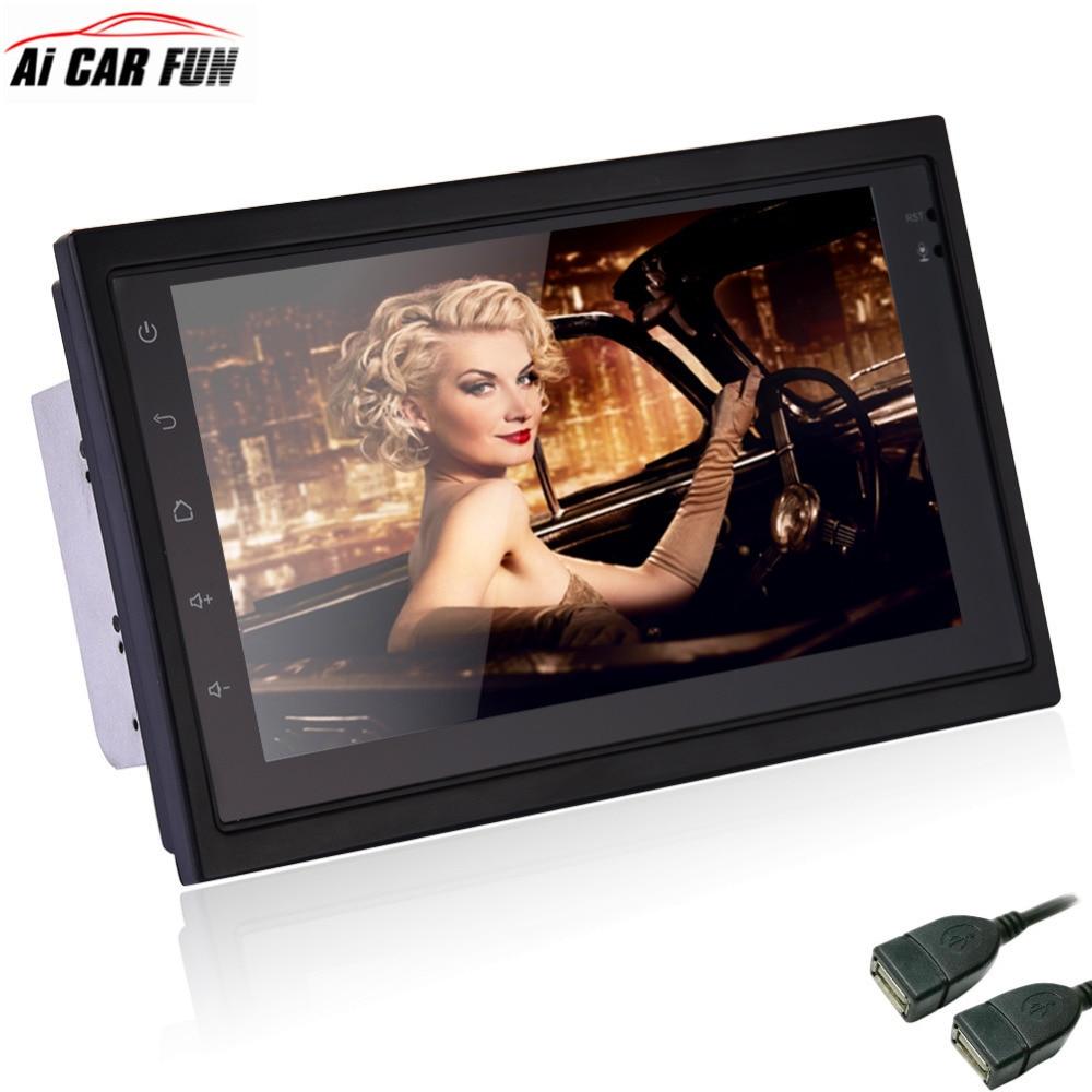 Universal Android 6.0 double Din Car GPS Navigator Multimedia 2 WI-FI Áudio Video Player 7 polegada MP5 FM Rádio Do Carro com Mapa Europa