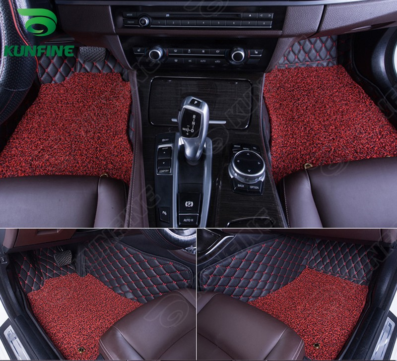 ФОТО Top Quality 3D car floor mat for Audi Q7 foot mat car foot pad with One Layer Thermosol coil Pad 4 colors  Left hand driver