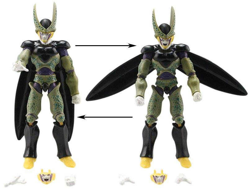 Dragonball Z Action Figures Changeable Parts 6pcs Set 11