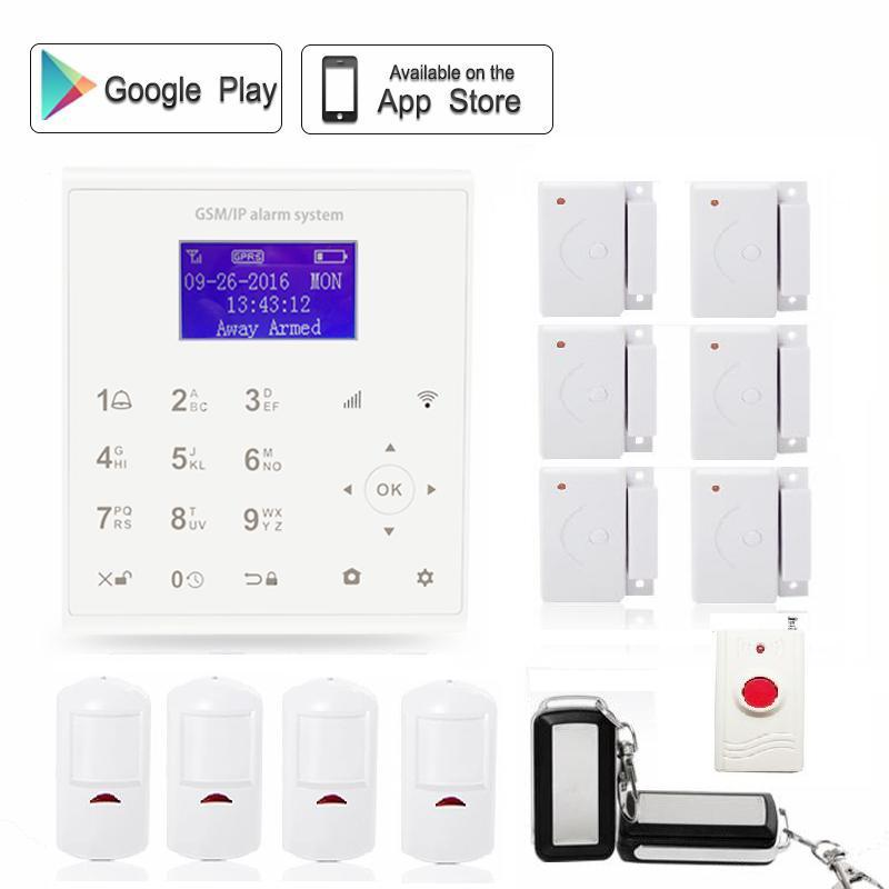 Spanish 433 MHz APP Control Intelligent Home Wireless Security wifi GSM GPRS IP Alarm System Emergency Button infrared sensor wireless pager system 433 92mhz wireless restaurant table buzzer with monitor and watch receiver 3 display 42 call button