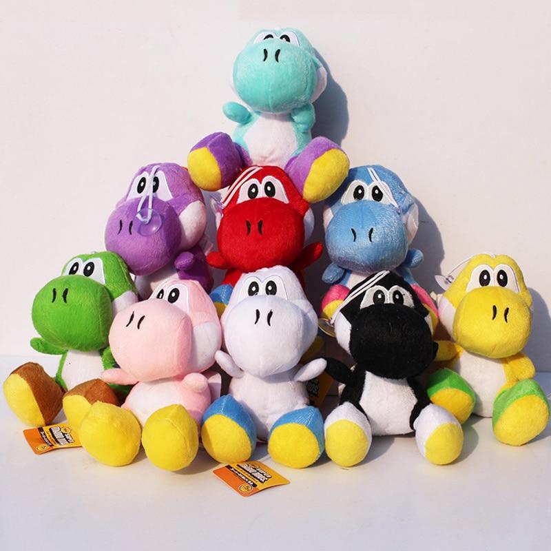 18cm Super Mario Bros Green Yoshi Plush Toys Doll Yoshi Dragon Plush Soft Stuffed Animals Toys For Children Kids Gift 9 Colors