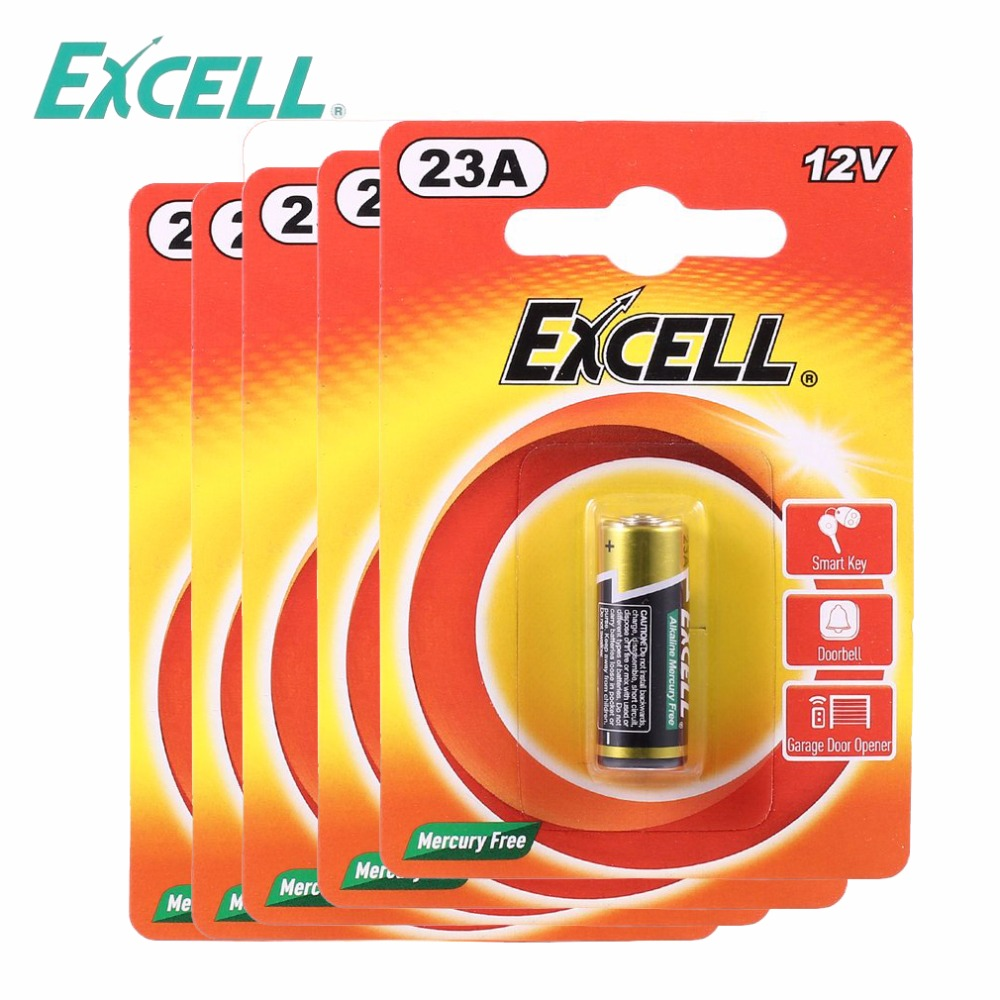 Online Shop 5pcsset Excell 12v 23a Mercury Free Button Cell
