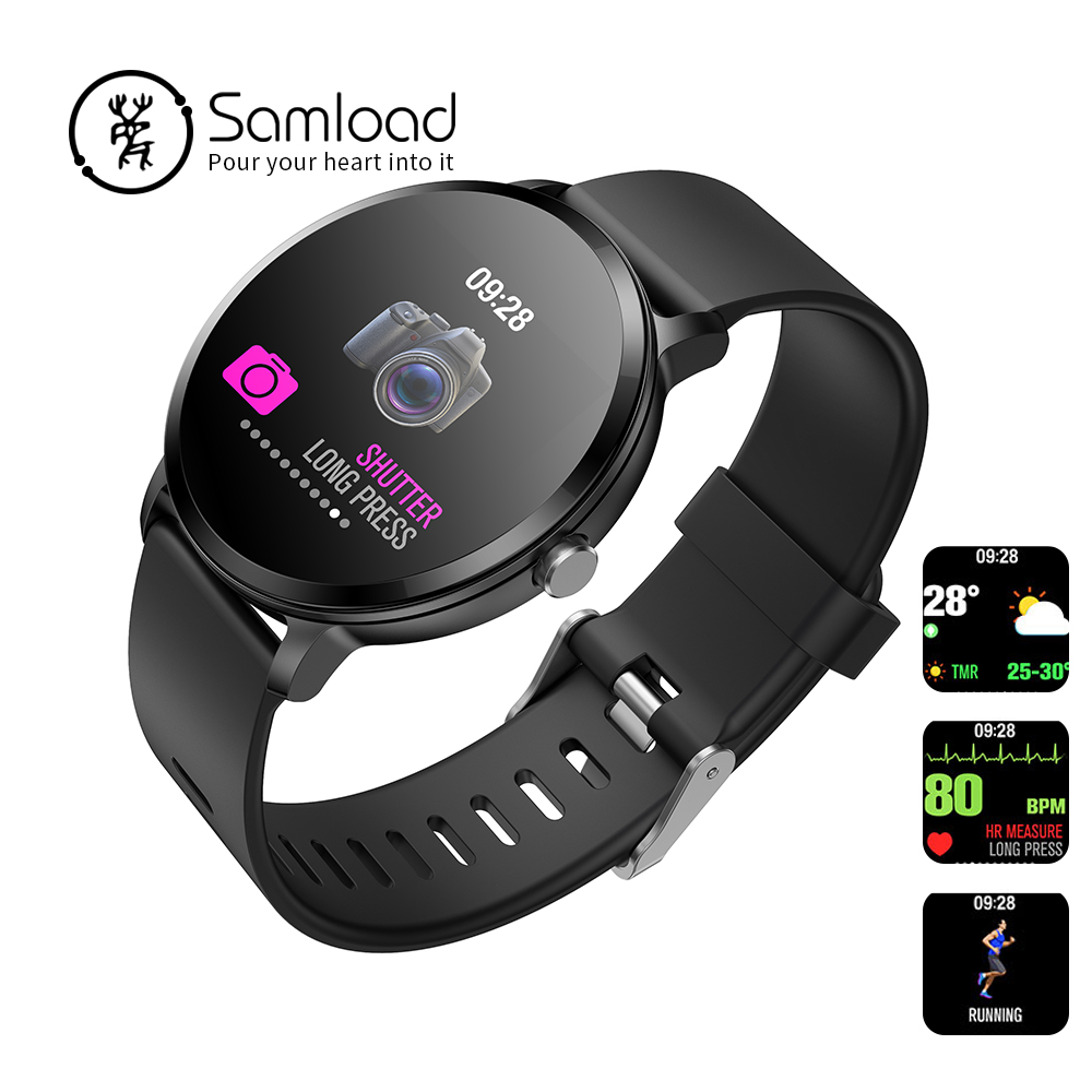 Samload V11 Smart watch IP67 Activity Fitness tracker Heart rate monitor blood pressure Round Bracelet For IOS 9.0 Android Phone 1pc 3888 electric bookbinding machine financial credentials document archives binding machine