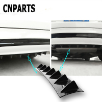 CNPARTS For VW Passat B5 B6 Polo Golf 4 5 Chevrolet Cruze Lada Granta RAM Car Rear Bumper 3D Cool Shark Spoiler Stickers