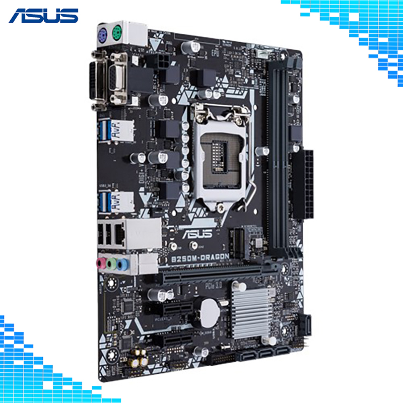 Asus B250M-DRAGON De Bureau Carte Mère Intel B250 Chipset Socket LGA 1151 DDR4 32g Soutien i5 7500 g4560