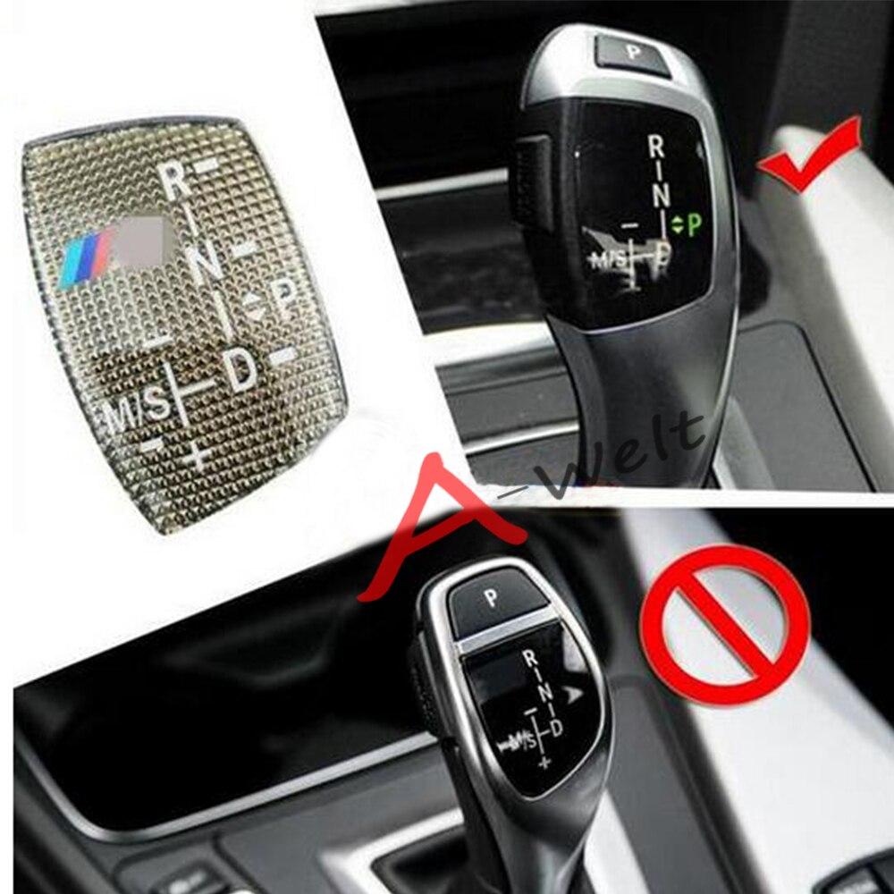 carbon fiber gear shift handle panel decoration cover trim car interior accessories