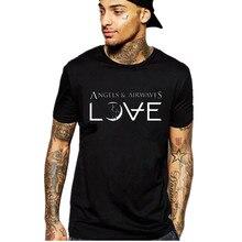 Hip hop engel und airwaves t-shirt männer lässig baumwolle kurzarm rock t-shirt sommer street tops Nehmen Kunden
