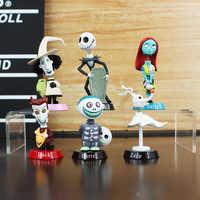 6 sztuk/zestaw nightmare before christmas zabawki figurki akcji 5-7cm jack szkieleton Sally kolekcja zabawki lalki pvc