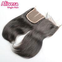 7а родитель роса волос выделяют, 4 * 4 parent прямо выделяют еще волос застежка спереди отеле узлы бесплатная доставка