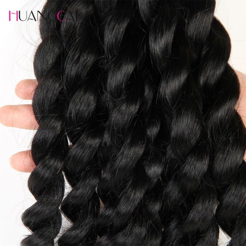 Français torsion cheveux brésiliens tisse 3 faisceaux 100% Extensions de cheveux humains Meches Bresilienne 3 Pcs/lot Huangcai - 5
