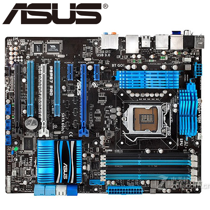 Asus P8P67 PRO Desktop Motherboard P67 Socket LGA 1155 i3 i5 i7 DDR3 32G ATX UEFI BIOS Original Used Mainboard On Sale original used desktop motherboard for asus p5ql pro p43 support lga7756 ddr2 support 16g 6 sata ii usb2 0 atx
