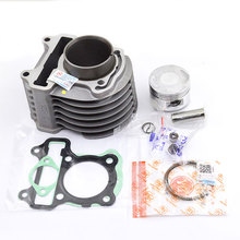 Motorcycle Cylinder Kit Piston Ring Gasket For Honda SPACY110 SPACY 110 SCR110 KZL SCR 110 SCR1104WHC SCR1104WHD SCR110SWHE
