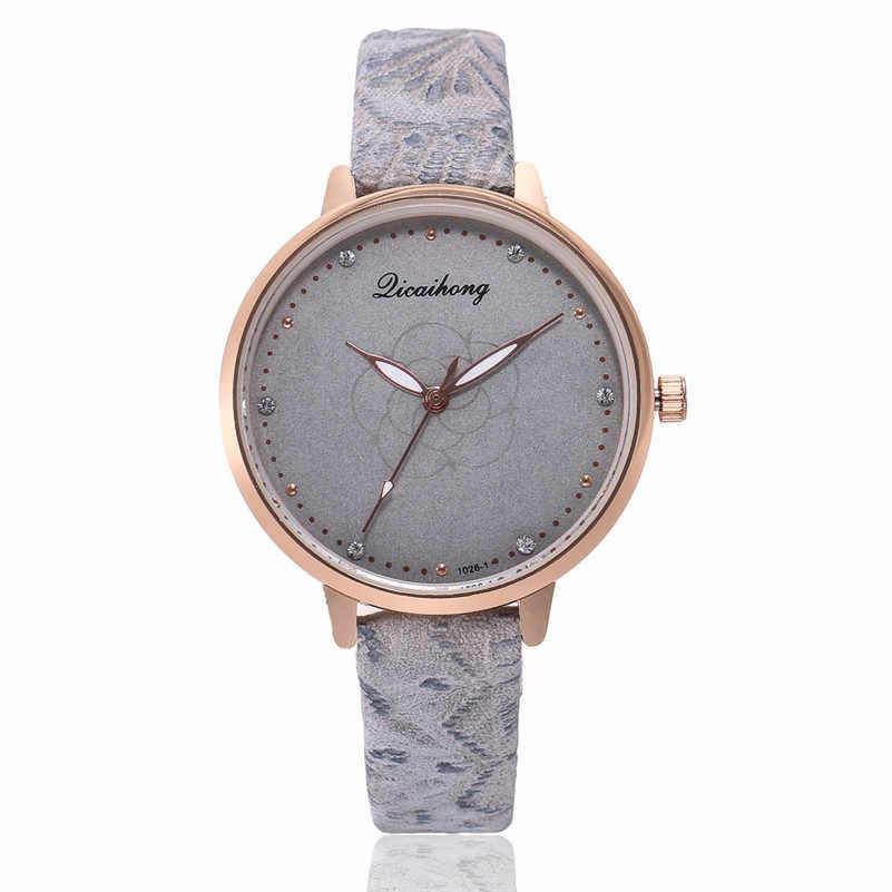 Haute qualité femmes montre décontractée à la mode de luxe robe dames en cuir bande analogique Quartz ronde montre-bracelet horloge bracelet M21