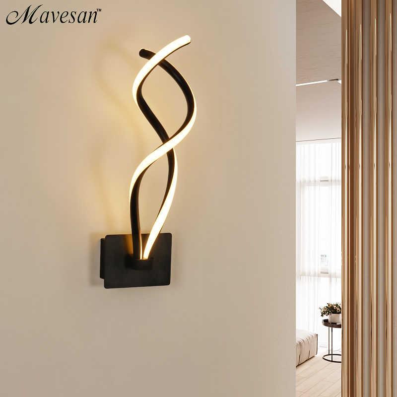 Светодиодный светильник lampada, современный светодиодный настенный светильник, зеркальный светильник, волнистый акриловый светодиодный светильник белого цвета для гостиной, столовой, коридора, светильник ing