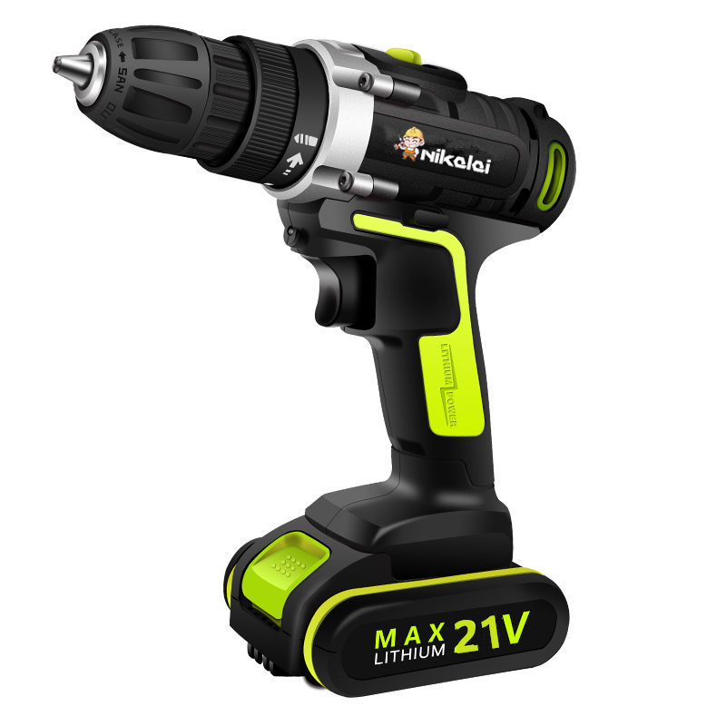 21V Rechargeable Lithium Battery Cordless Screwdriver Torque Drill Mini Electric Screwdriver Home Waterproof Motor Power Tools