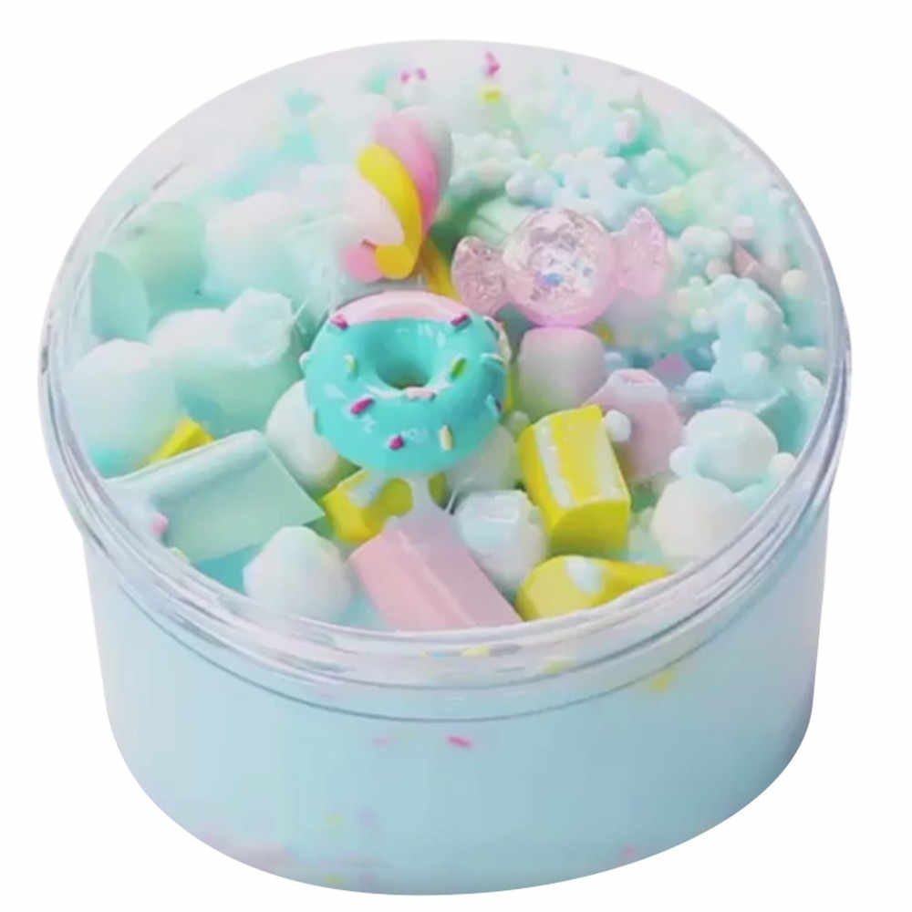 60ml Ice Cream cotton mud slime Beautiful Color Mixing Cloud polymer clay Putty Scented Stress Kids Clay Toy lightweight clay