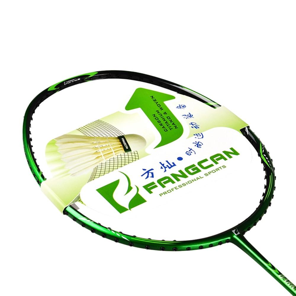 5pcs FANGCAN Darkness 6100 3U Badminton Racket Nano Frame Offensive and Durable Type Badminton Racket