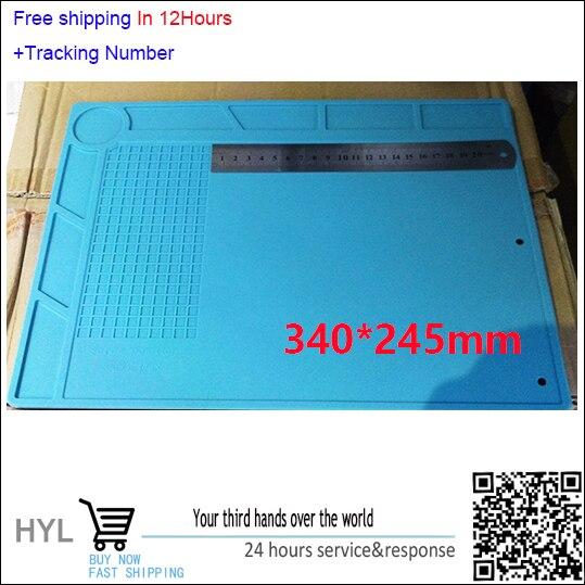 340*245*5mm Insulation Silicone Pad High Temperature Resistant Anti-static  for iPhone Computer Repair Mat