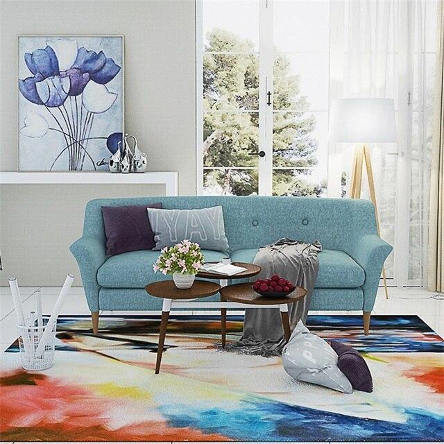 Mode Moderne Künstlerische Abstrakte Bunte Zeichnung Parlor Wohnzimmer  Dekorative Teppich Boden Tür Yoga Matte Pad