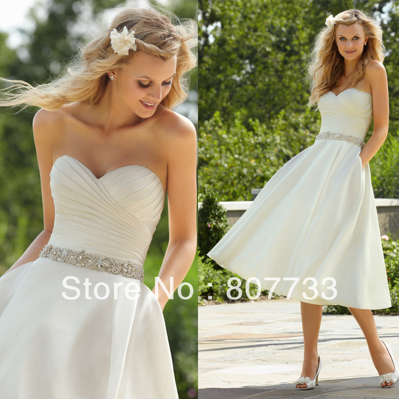 2017 Hot Sweetheart Neck Beaded Waist Y Short Wedding Dresses In From Weddings Events On Aliexpress Alibaba Group