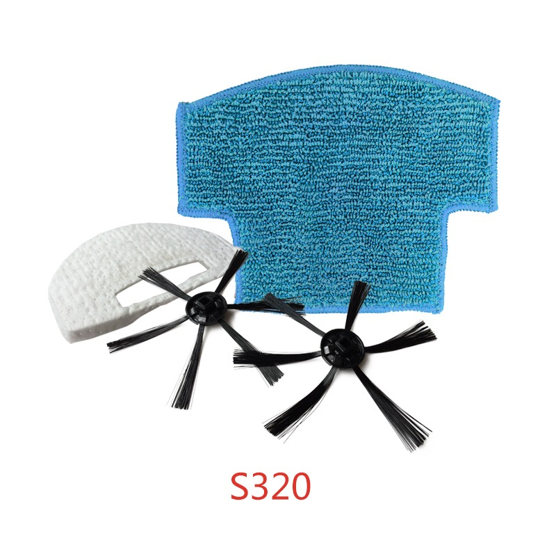 2x Side Brush +1x Filter +1x Mop Cloth Replacement Kit For Isweep S320 Robot Vacuum Cleaner Parts Accessories