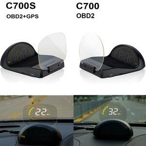 Image 5 - 2018 ใหม่มาถึงC700 C700S OBD2 HUD OBD II HD Head Upแสดงความเร็วแรงดันไฟฟ้าอุณหภูมิน้ำOverspeedสัญญาณเตือนRPMสำหรับรถยนต์