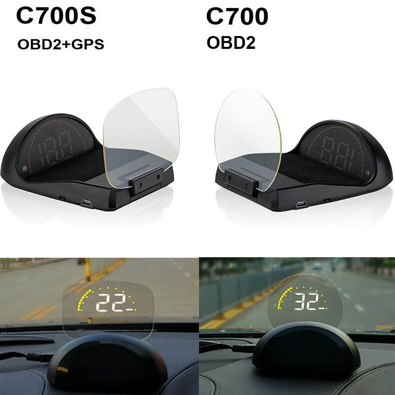 Image 5 - 2018 New Arrival C700 C700S OBD2 Car HUD OBD II HD Head Up Speed Display Voltage Water Temperature Overspeed RPM Alarm For Car-in Head-up Display from Automobiles & Motorcycles