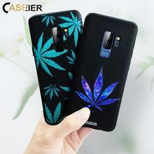 CASEIER Luxury Leaf Phone Case For Samsung S9 S8 Plus Cases Soft Matte Bag Galaxy Note 8 Funda Capa