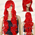 Red Curly Long Cosplay Wig - 33 inch High Temp - CosplayDNA Wigs
