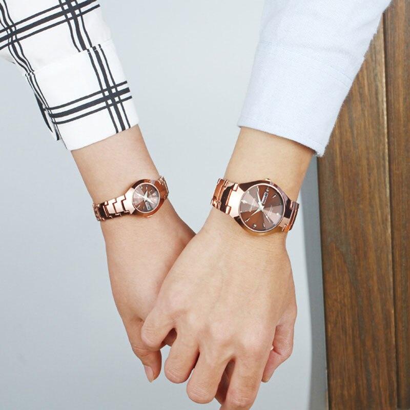 Brand Luxury Couples Watches Quartz Calendar Waterproof Watch For Women Men Fashion Lover Wrist Watch Relogio Feminino Masculino