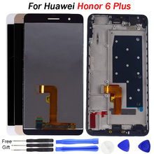 For Huawei Honor 6 Plus LCD Touch Screen with Frame Display Digitizer Assembly Replacement Parts Tested